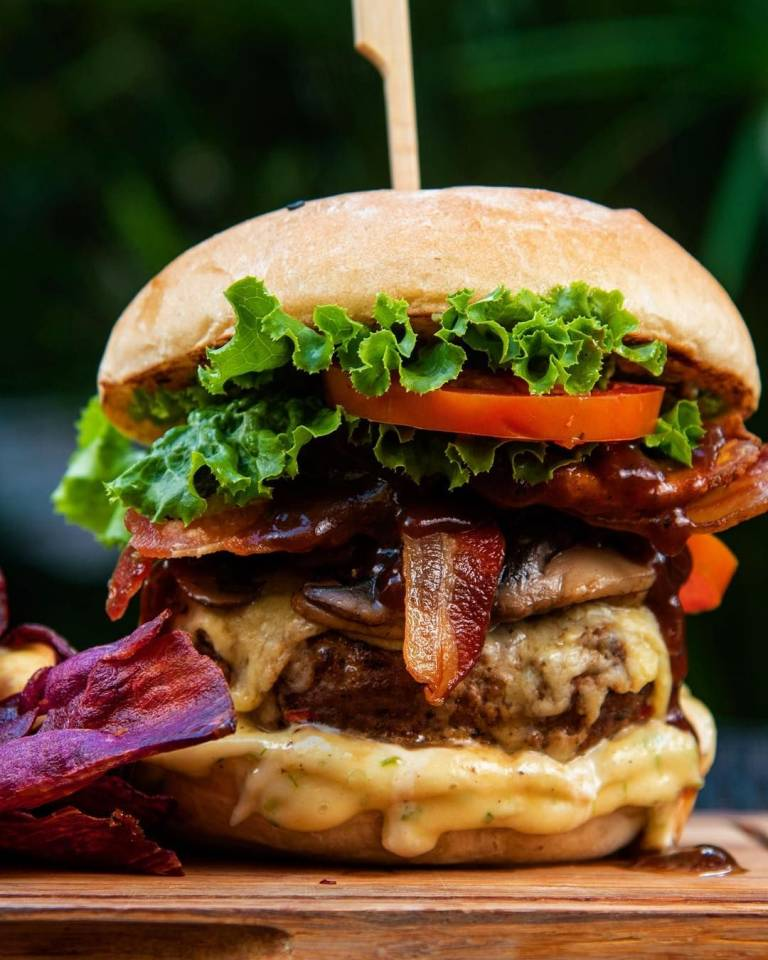Chive BBQ Bacon Burger